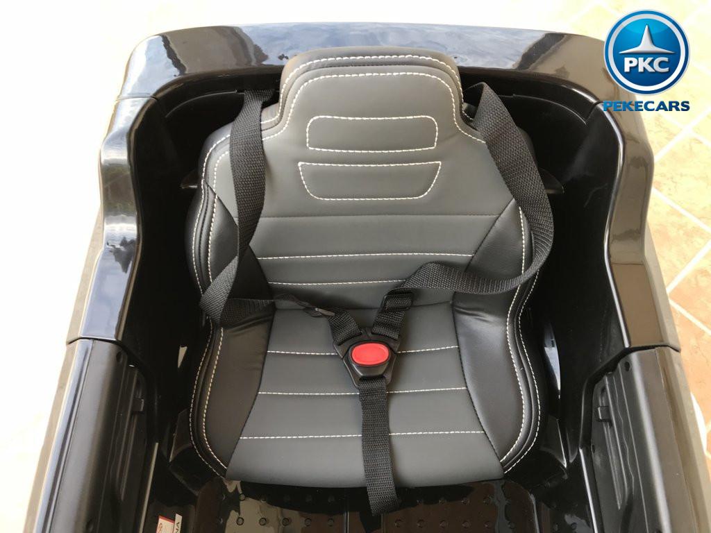 Coche electrico infantil Mercedes ML-350 Negro asiento acolchado en piel