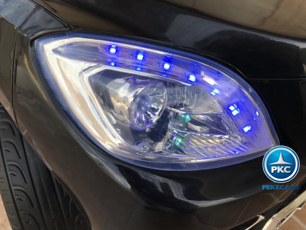 Coche electrico para niños Mercedes ML-350 Negro luces delanteras