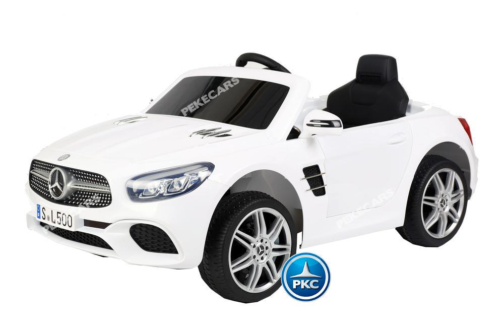Coche electrico para niños Mercedes SL500 Blanco vista principal