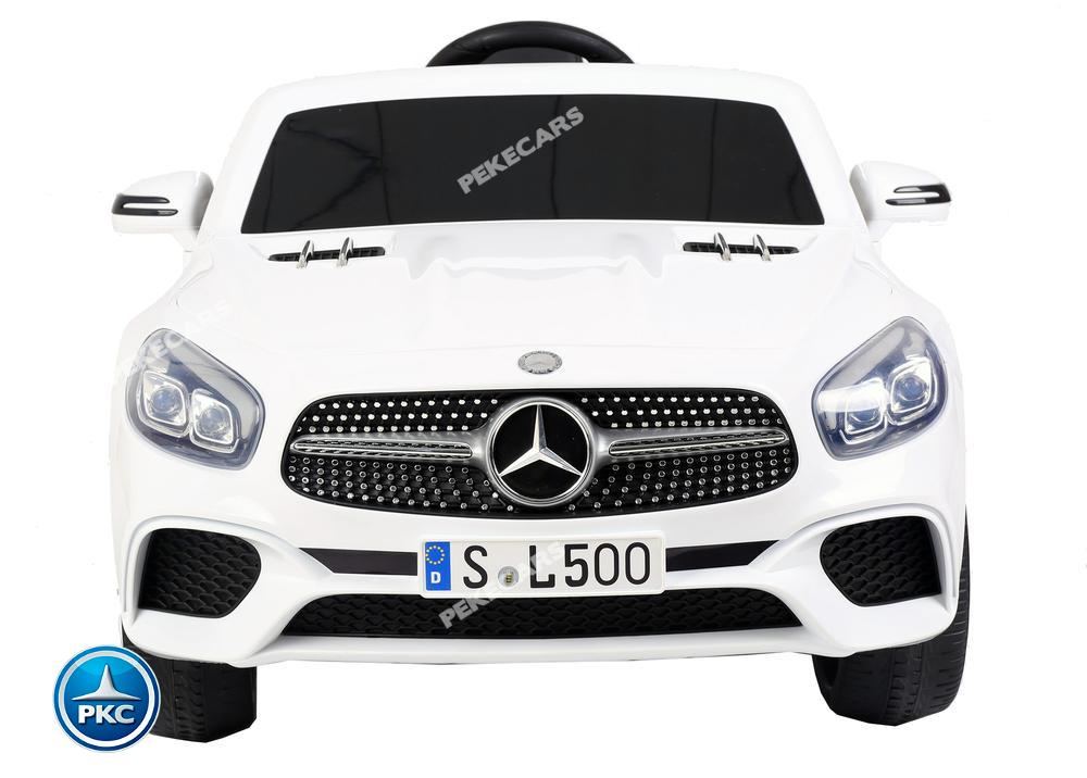 Coche electrico infantil Mercedes SL500 Blanco vista frontal