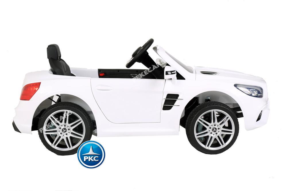 Coche electrico infantil Mercedes SL500 Blanco visto desde arriba