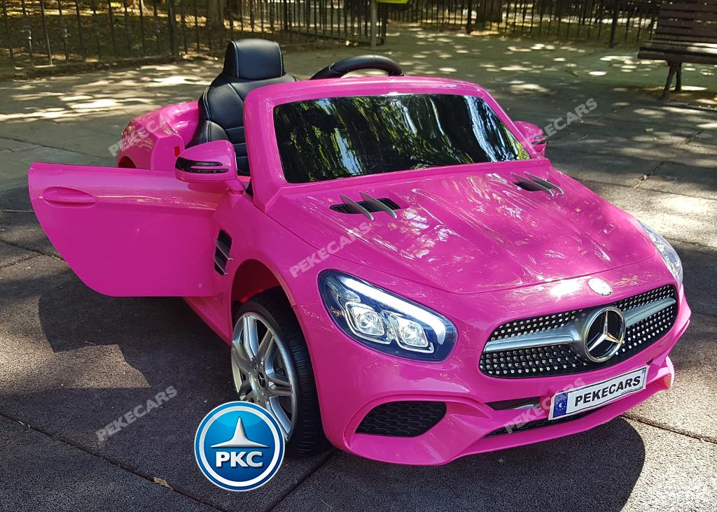 Coche electrico para niños Mercedes SL500 Rosa vista principal