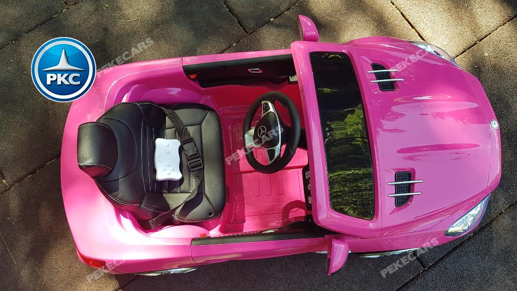 Coche electrico infantil Mercedes SL500 Rosa visto desde arriba