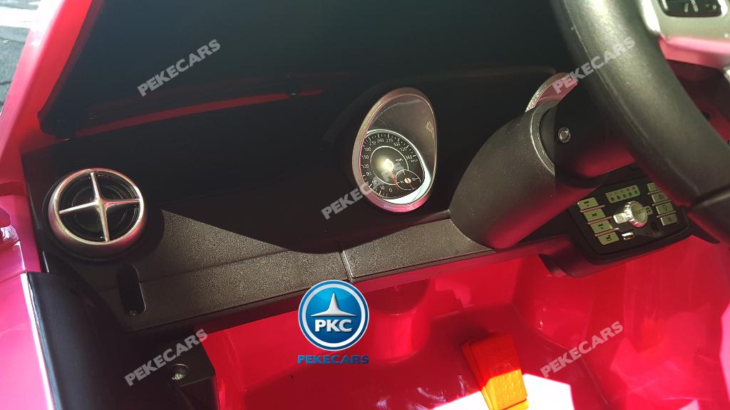 Coche electrico para niños Mercedes SL500 Rosa salpicadero