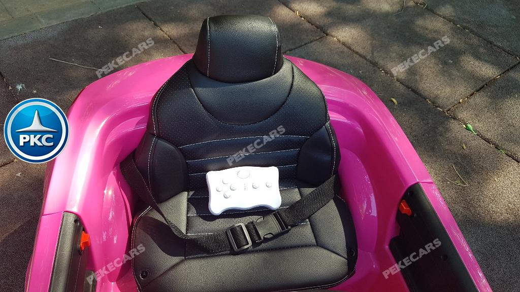 Coche electrico infantil Mercedes SL500 Rosa asiento acolchado en piel