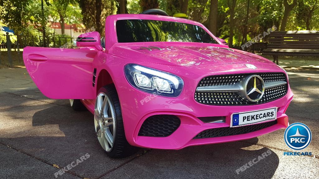 Coche electrico para niños Mercedes SL500 Rosa
