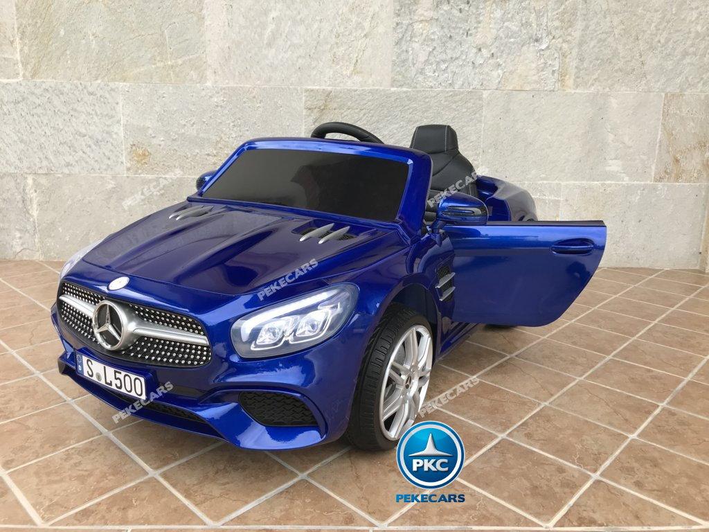 Coche electrico para niños Mercedes SL500 Azul Metalizado vista principal