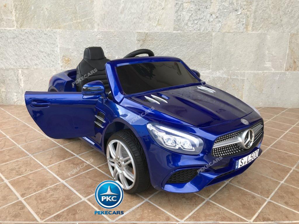 Coche electrico para niños Mercedes SL500 Azul Metalizado con apertura de puertas