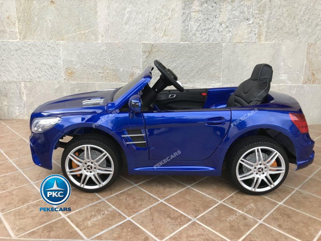 Coche electrico infantil Mercedes SL500 Azul Metalizado