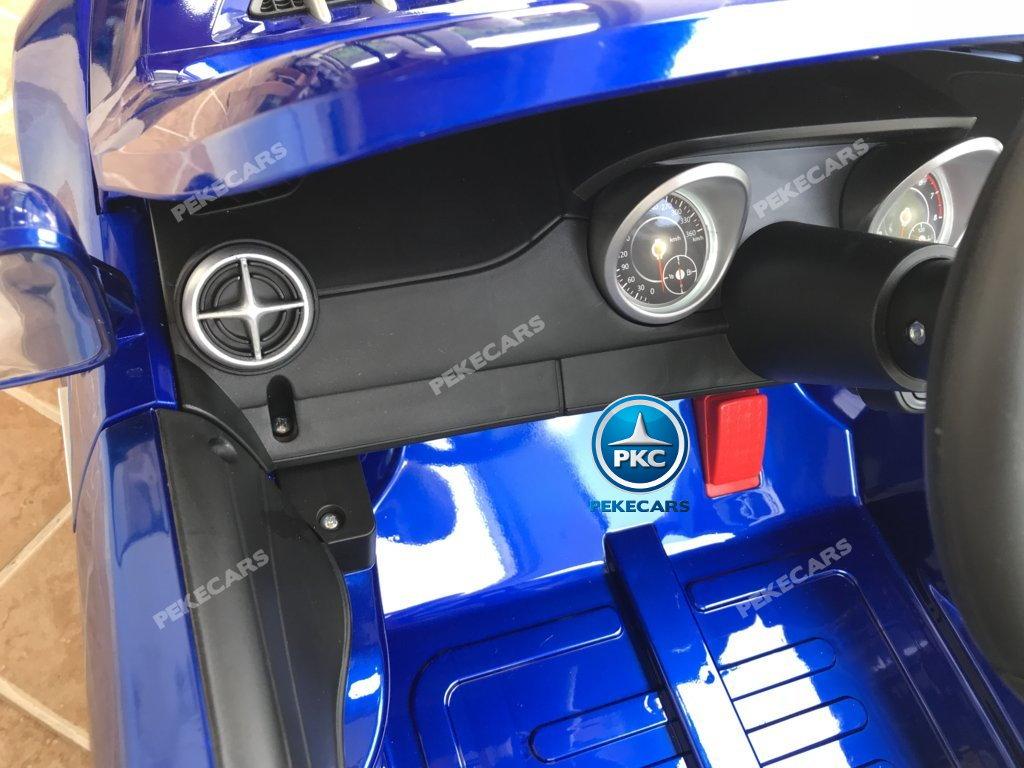 Coche electrico infantil Mercedes SL500 Azul Metalizado salpicadero