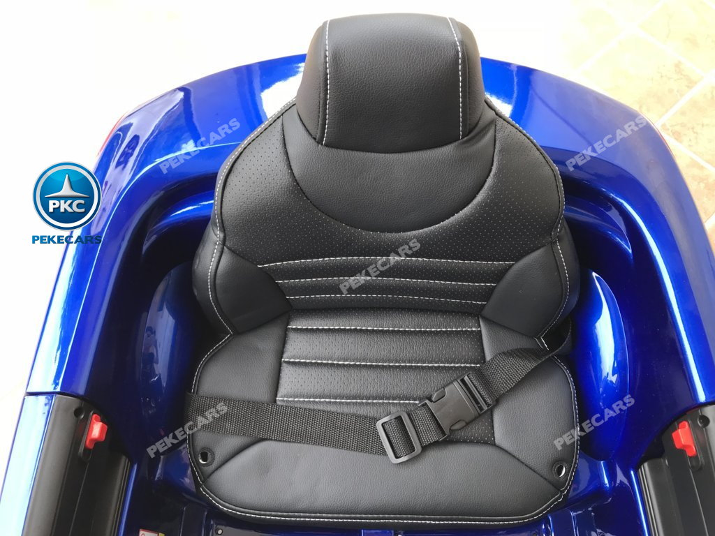 Coche electrico para niños Mercedes SL500 Azul Metalizado asiento acolchado en piel