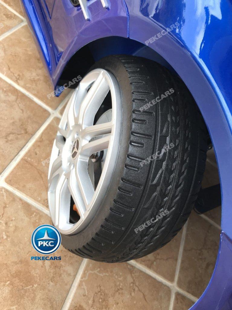 Coche electrico para niños Mercedes SL500 Azul Metalizado ruedas de caucho antipinchazos