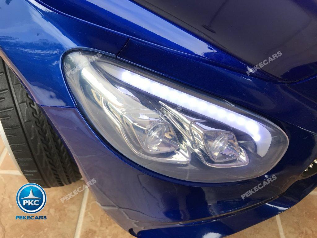 Coche electrico infantil Mercedes SL500 Azul Metalizado luces frontales