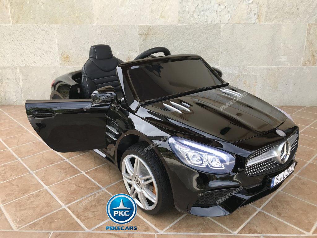 Coche electrico para niños Mercedes SL500 Negro Metalizado con apertura de puertas