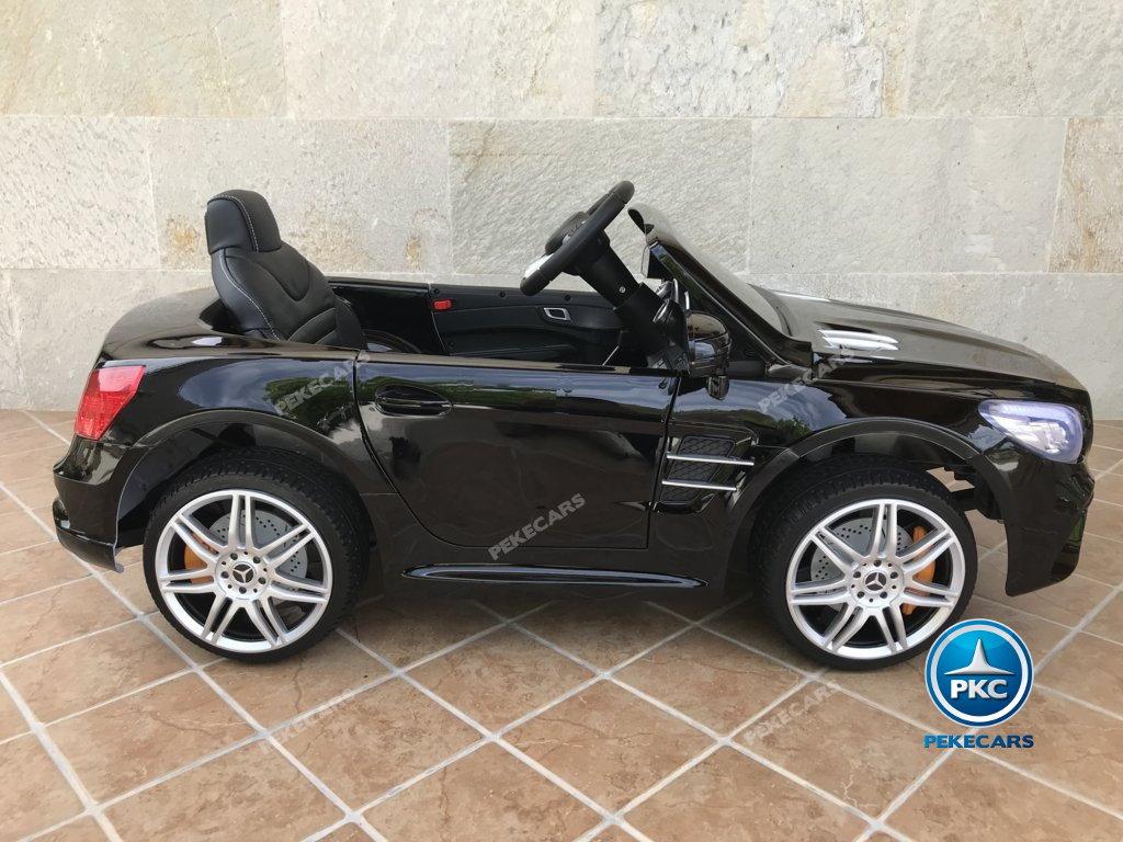 Coche electrico infantil Mercedes SL500 Negro Metalizado lateral