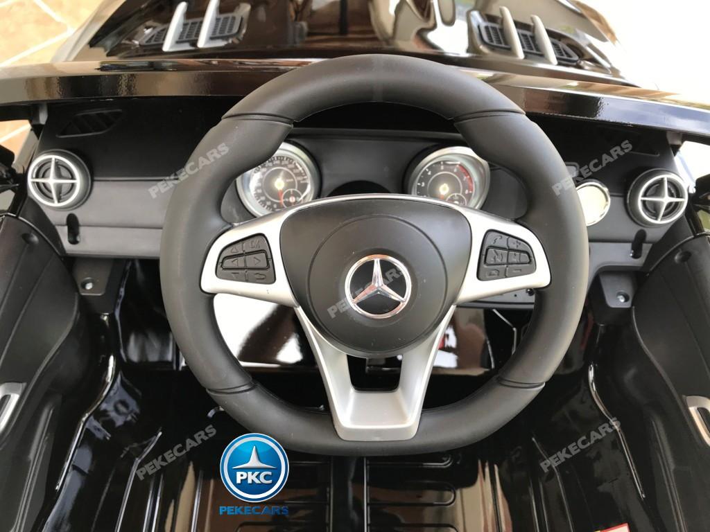 Coche electrico para niños Mercedes SL500 Negro Metalizado dashboard