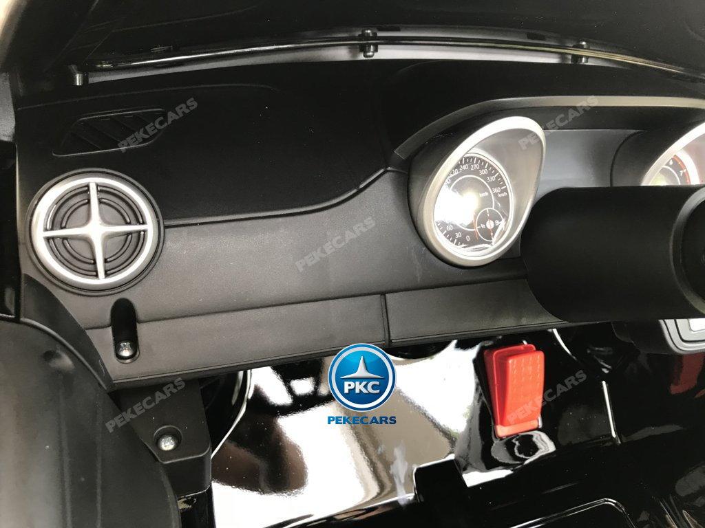 Coche electrico infantil Mercedes SL500 Negro Metalizado volante con musica y claxon