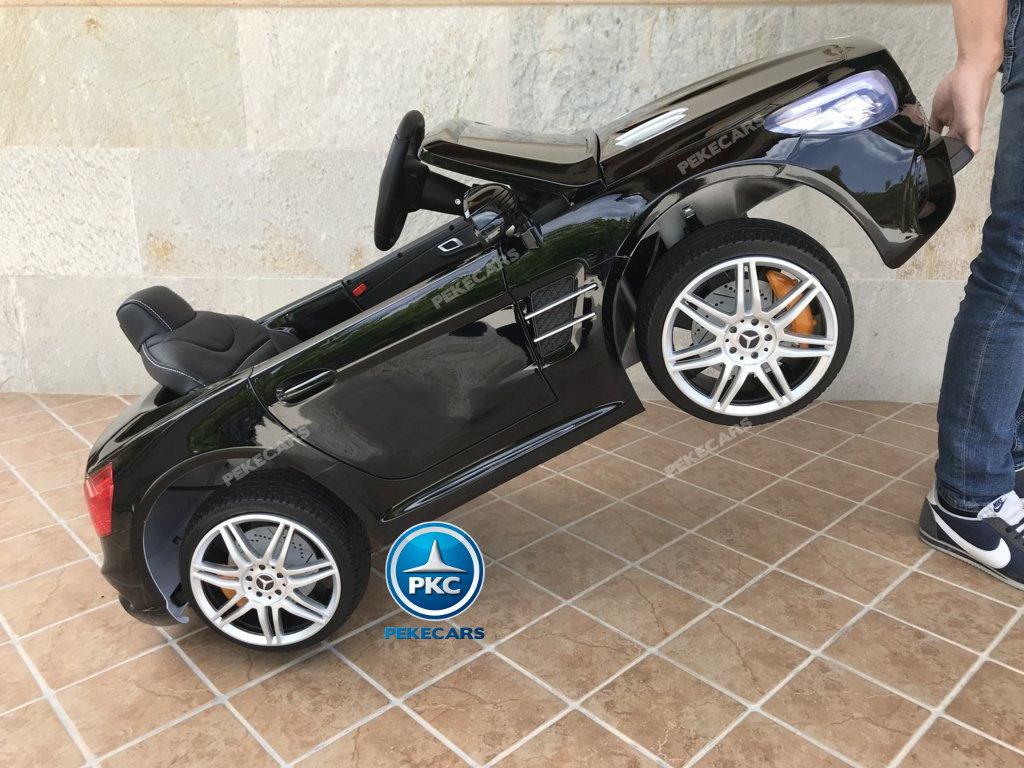 Coche electrico infantil Mercedes SL500 Negro Metalizado asa de transporte