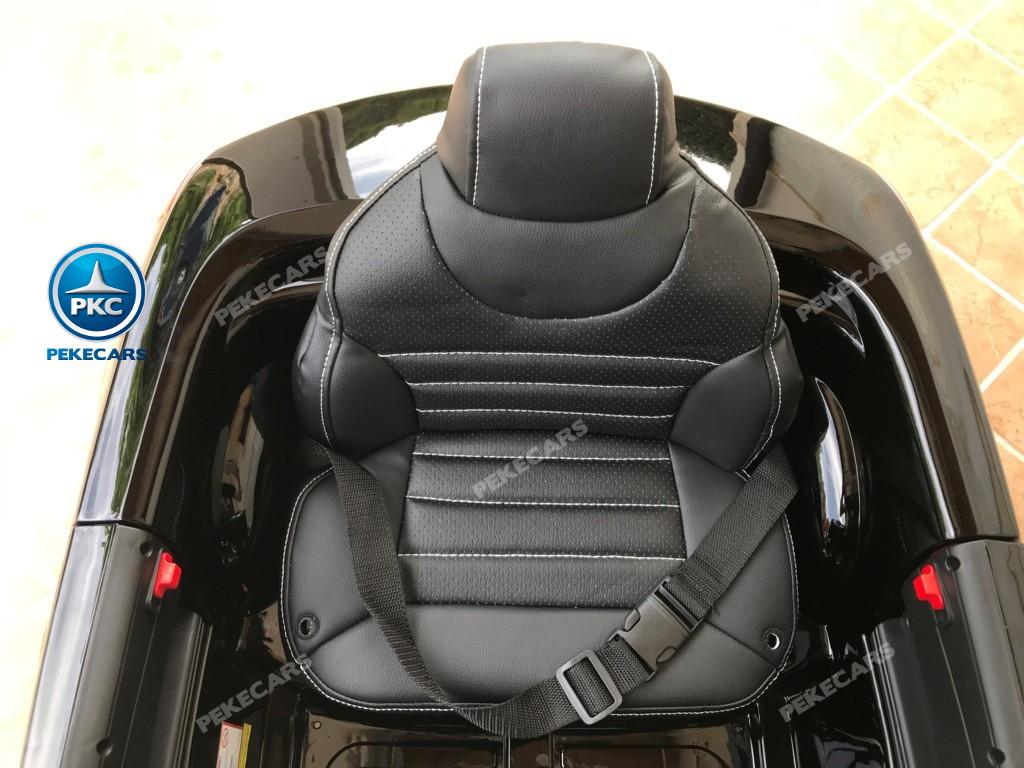 Coche electrico infantil Mercedes SL500 Negro Metalizado asiento acolchado en piel