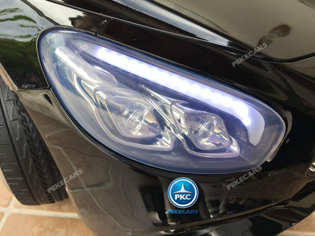 Coche electrico para niños Mercedes SL500 Negro Metalizado luces delanteras