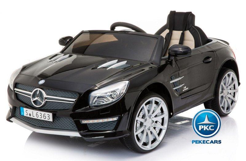 Mercedes roaster SL63 para niños negro metalizado Pekecars
