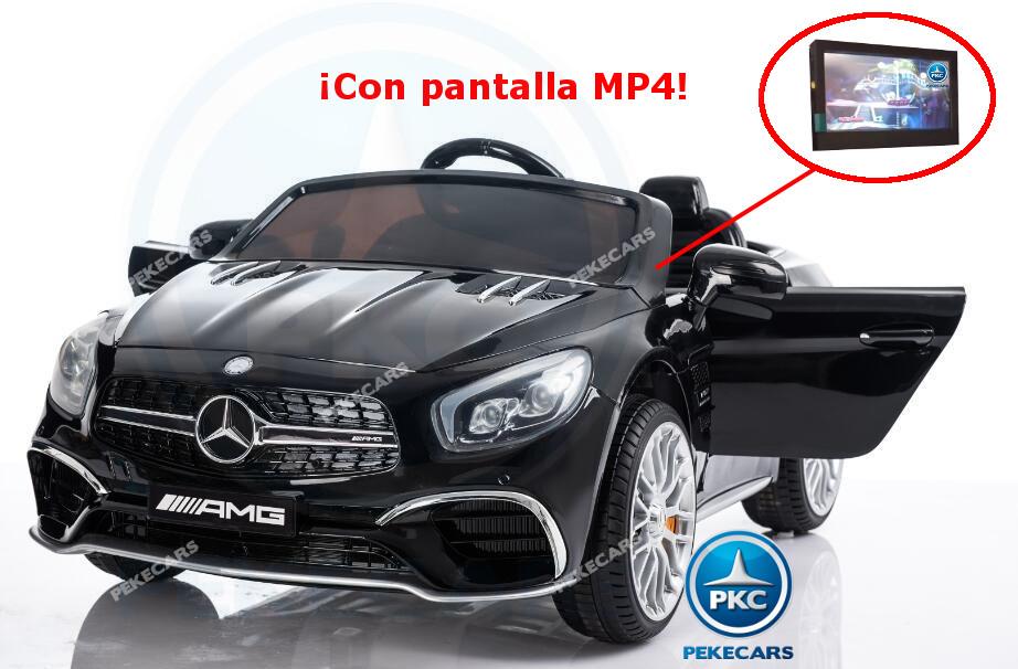 Mercedes SL65 con pantalla MP4 negro width=