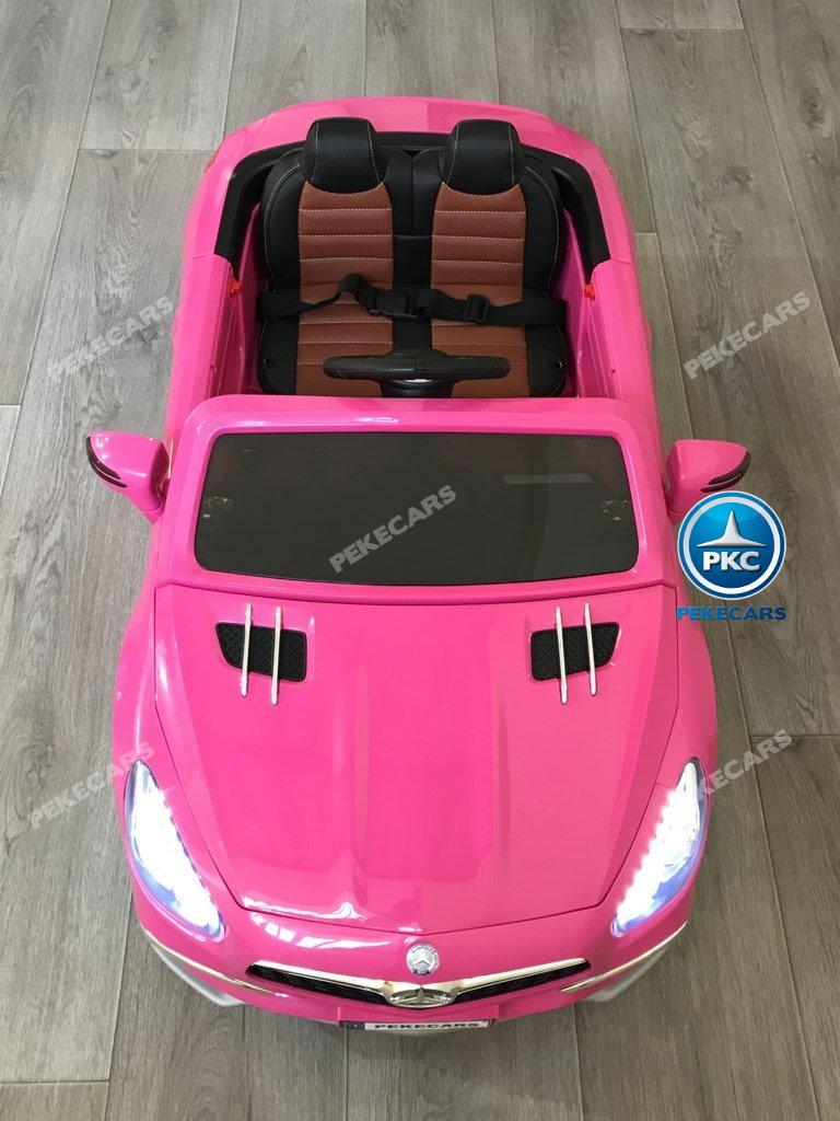 Coche electrico infantil Mercedes SL65 con MP4 y bateria extra Rosa