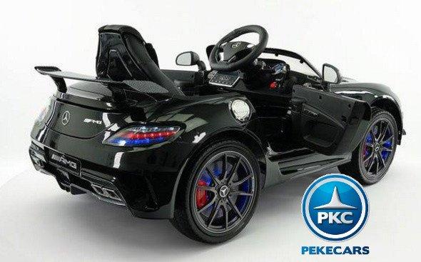 Coche electrico infantil Mercedes deportivo sls Negro con apertura de puertas