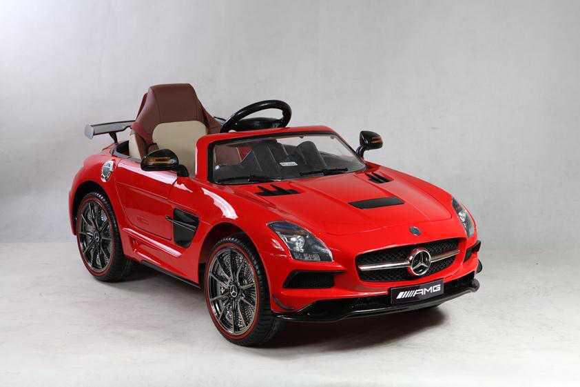 Mercedes deportivo sls rojo para niños Pekecars