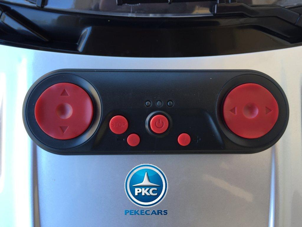 Coche electrico para niños Mercedes deportivo sls Plata Metalizado con mando radiocontrol
