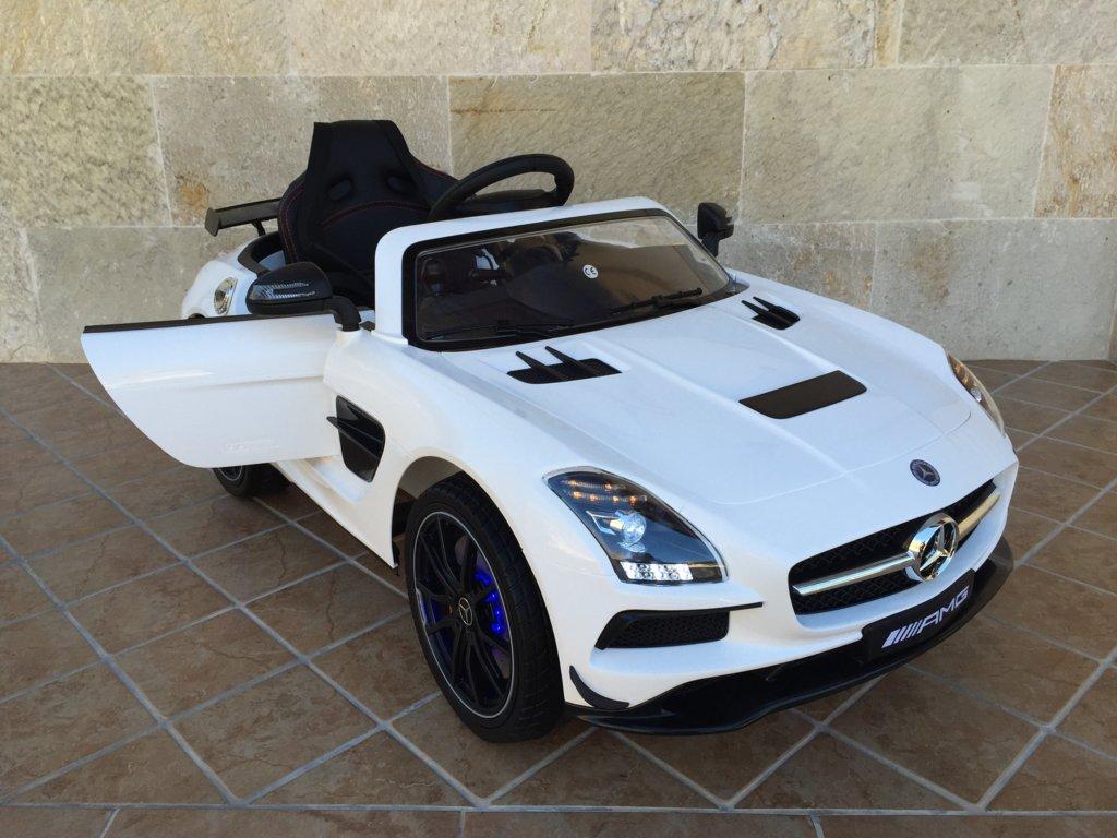 Coche electrico para niños Mercedes deportivo sls Blanco vista principal