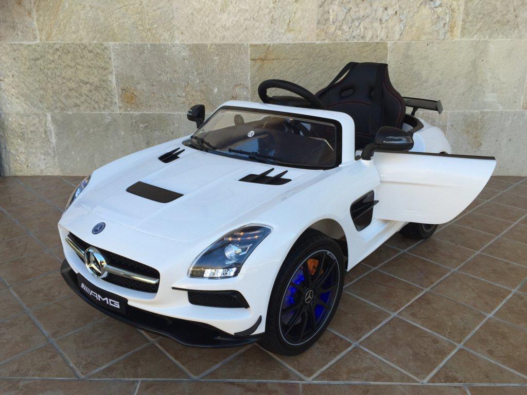 Coche electrico infantil Mercedes deportivo sls Blanco con apertura de puertas