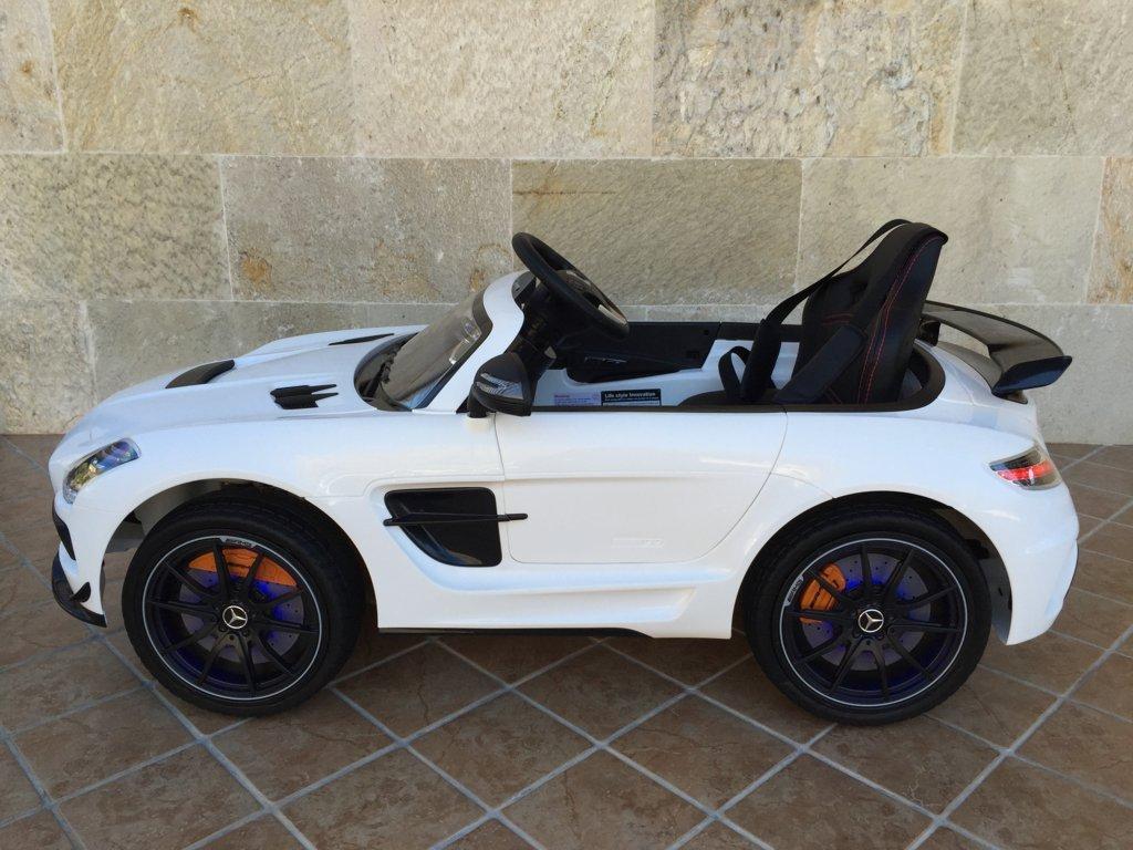 Coche electrico infantil Mercedes deportivo sls Blanco