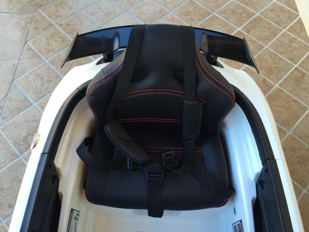 Coche electrico para niños Mercedes deportivo sls Blanco asiento acolchado en piel