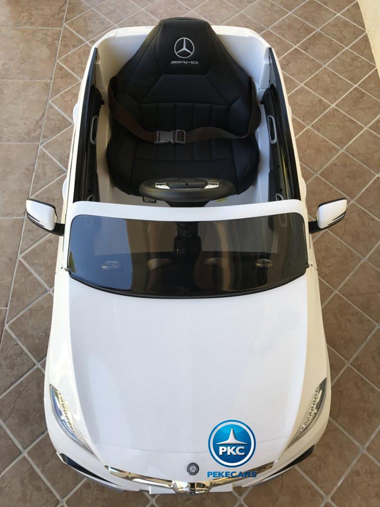Coche electrico para niños mercedes a45 Blanco visto desde arriba