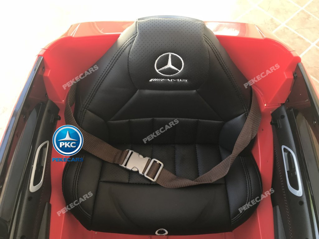 Coche electrico infantil mercedes a45 Rojo asiento acolchado