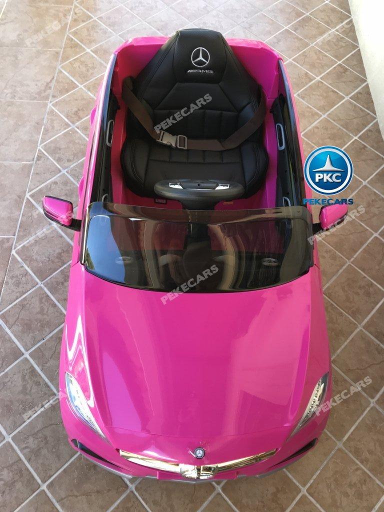 Coche electrico para niños mercedes a45 Rosa visto desde arriba