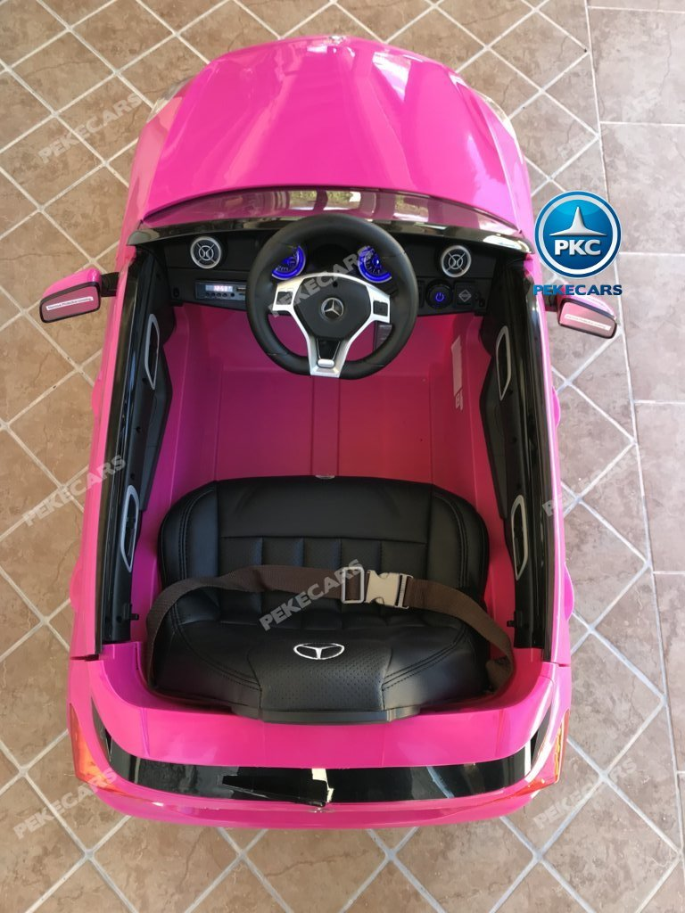Coche electrico infantil mercedes a45 Rosa detalles