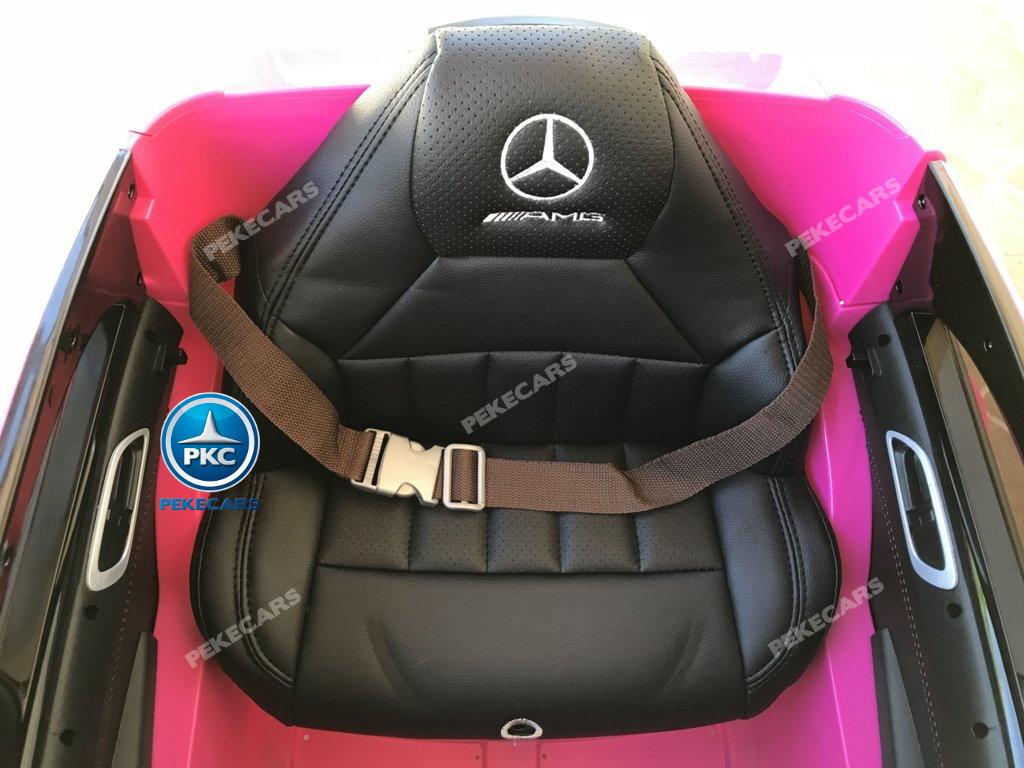 Coche electrico infantil mercedes a45 Rosa asiento acolchado