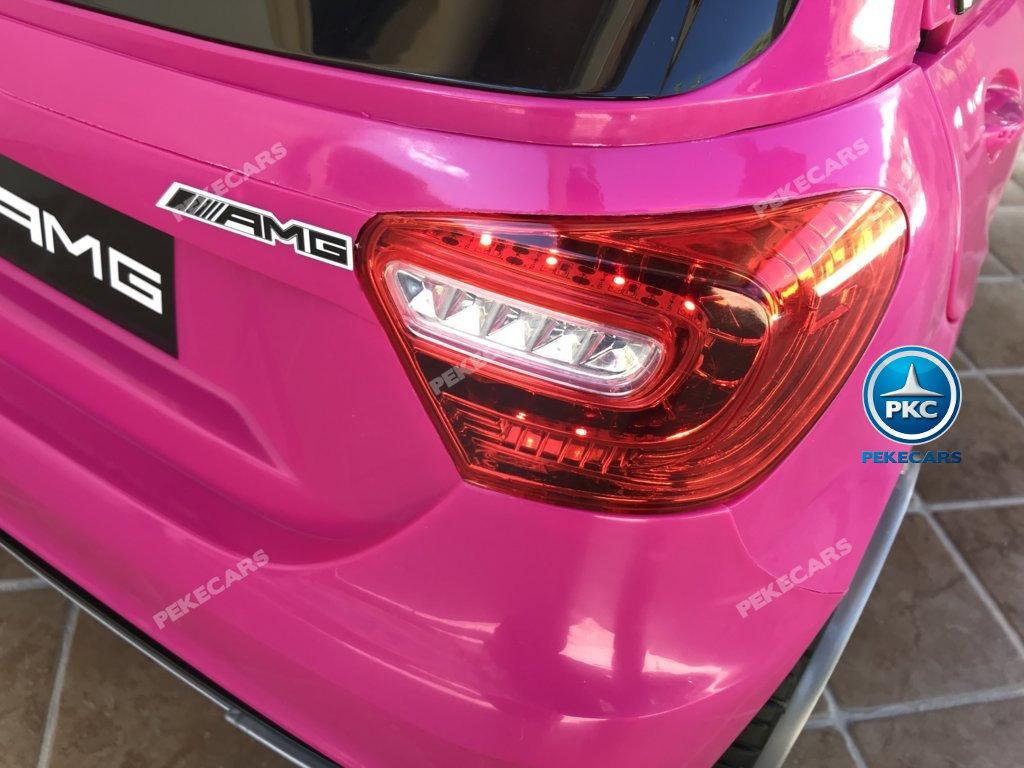 Coche electrico infantil mercedes a45 Rosa ruedas de caucho