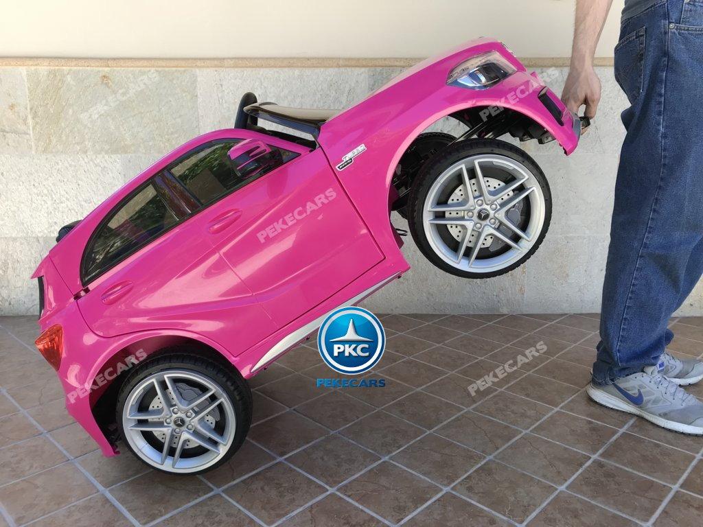 Coche electrico infantil mercedes a45 Rosa sistema stroller