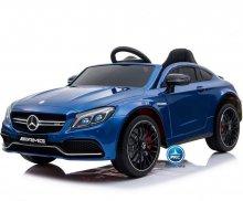 Coche electrico para niños Mercedes C63 Azul Metalizado vista principal