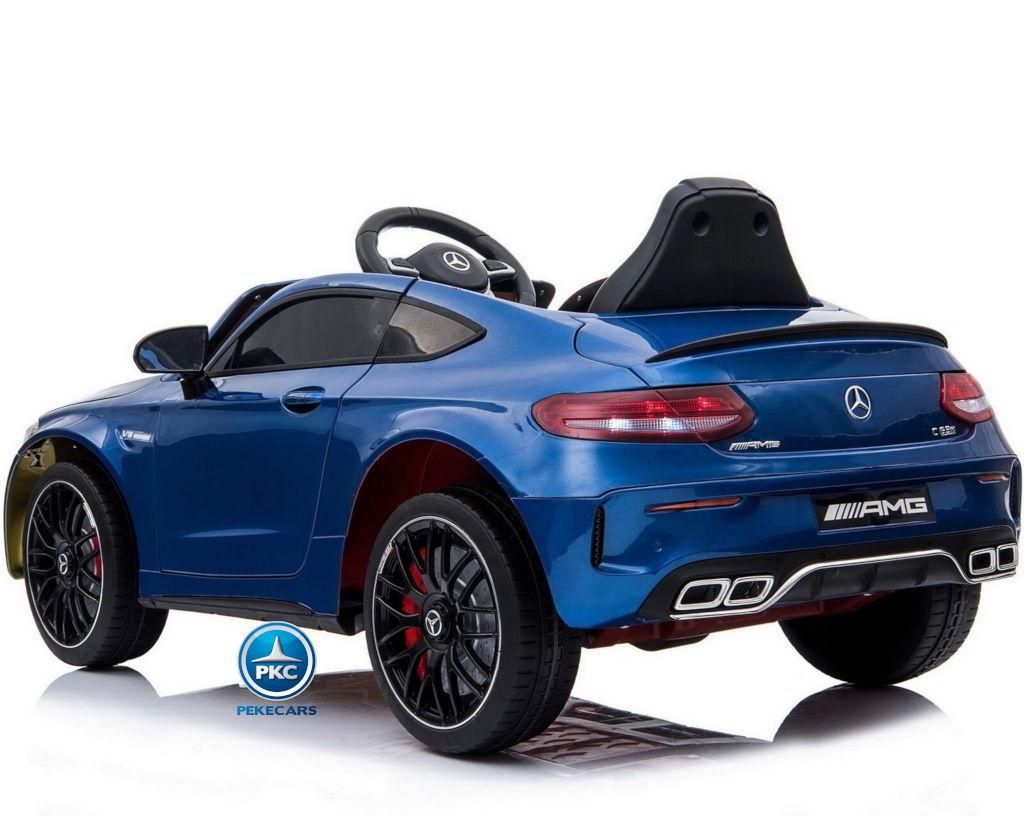 Coche electrico para niños Mercedes C63 Azul Metalizado