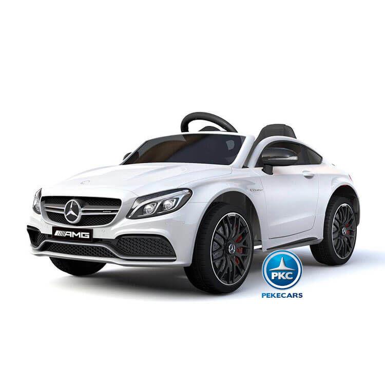 Coche electrico para niños Mercedes C63 Blanco vista principal