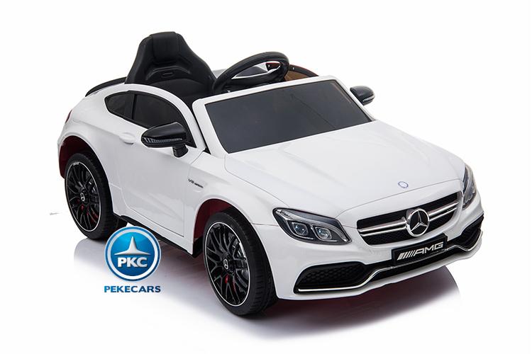 Coche electrico para niños Mercedes C63 Blanco