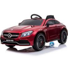 Coche electrico para niños Mercedes C63 Rojo Metalizado vista principal