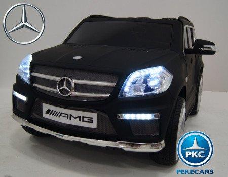 coche electrico Mercedes GL63 negro mate para niños