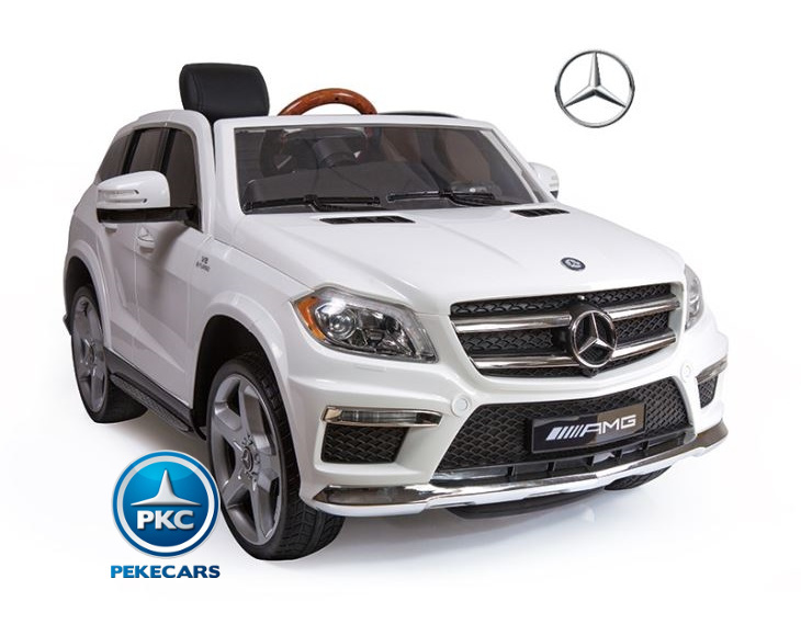 Coche electrico infantil Mercedes GL63 Version Superior Blanco