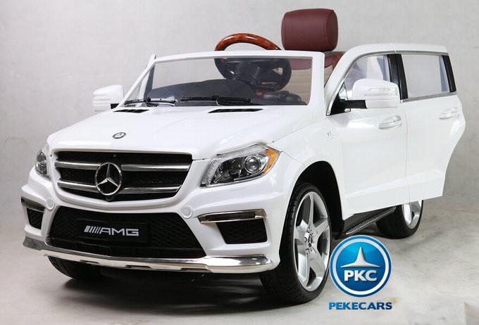 Coche electrico para niños Mercedes GL63 Version Superior Blanco vista principal