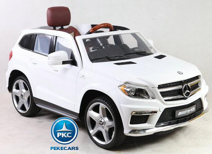 Coche electrico para niños Mercedes GL63 Version Superior Blanco con apertura de puertas